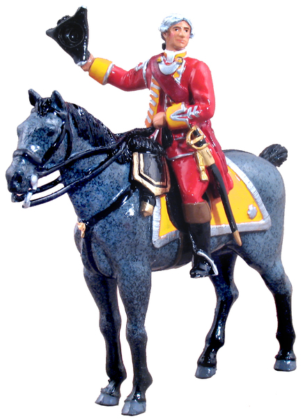 47034 - British 35th Regiment of Foot Officer Mounted, 1754-1763