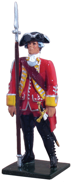 47035 - British 35th Regiment of Foot Officer, 1754-1763