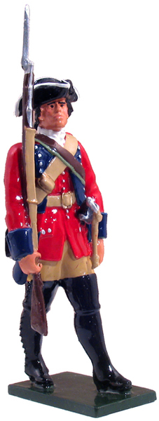 47036 - British 60th Regiment of Foot Marching, 1754-1763