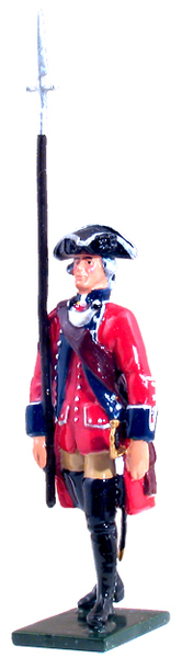 47037 - British 60th Regiment of Foot Officer Marching, 1754-1763