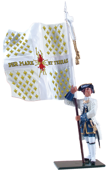 47040 - Compagnies franches de la Marine Ensign with Colonel's Color, 1754-60