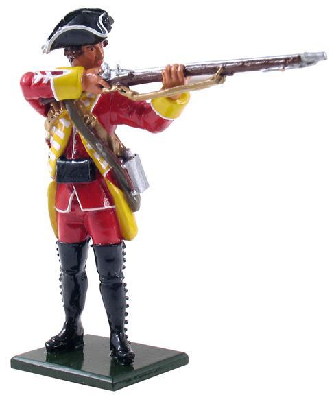 47045 - British 35th Regiment of Foot Centre Company Standing Firing, 1754-1763