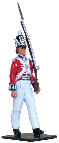 48002 - The Coldstream Regiment of Foot Guards Enlisted Men Marching at Shoulder Arms, Napoleonic Wars, 1815