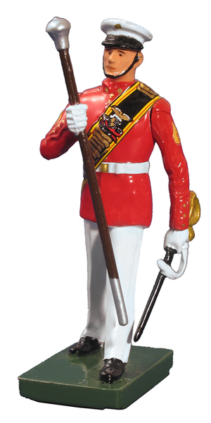 48507 - USMC Drum Major, Commandant's Own, Red Tunic