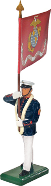 48511 - USMC Standard Bearer, USMC Flag, Summer Dress