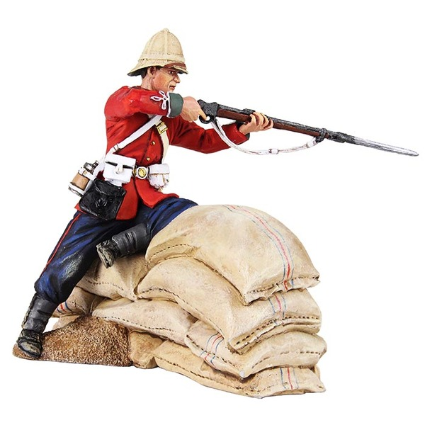 50060C - Zulu War / British 24th Foot Firing from Barricade, Rorke's Drift, January 22-23, 1879