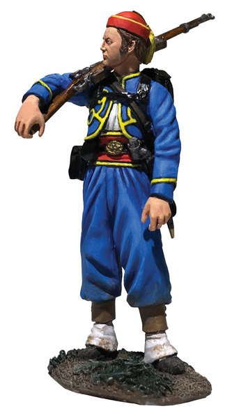 50075C 146th New York Zouave Standing with Shouldered Rifle, 163