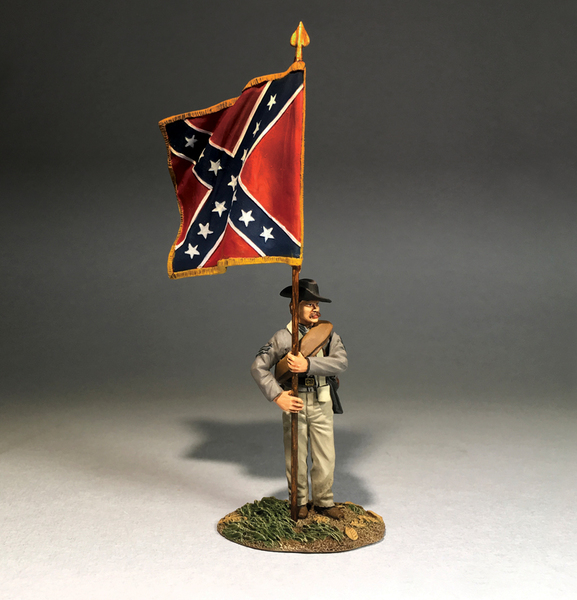 50088C - American Civil War - Confederate with Army of Northern Virginia Flag