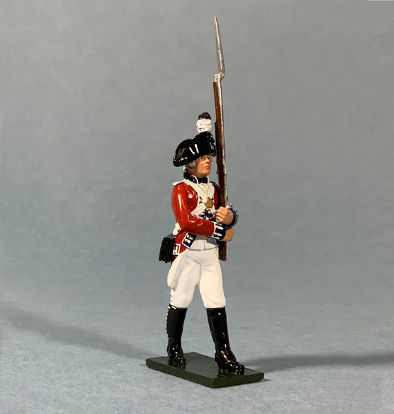50102C - Regiments - Gloss Coldstream Guardsman Marching, 1792