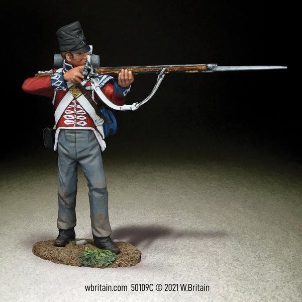 50109C - British 1st Foot Guard Light Company Standing Firing, 1815