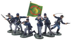 52003 - American Civil War Union Infantry Set No.2, Irish Brigade