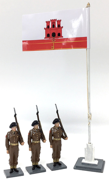 GDF Troops and Flagpole