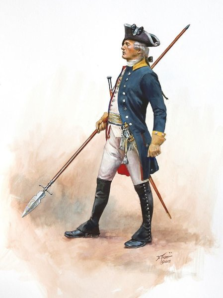 ORIGINAL Don Troiani Art Revolutionary War 1777