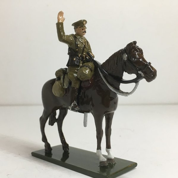 WWI Officer, mounted, arm raised - BTSC-FIG177
