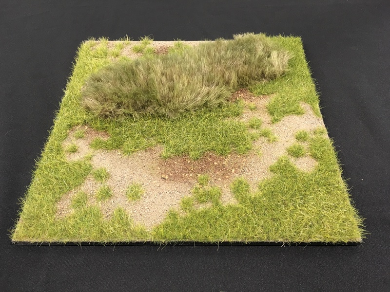 "HA2067.3 - 12"" x 12"" Grass Field at Meadow's Edge Scenic Base"
