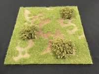 "More about the 'HA2067.2 - 12"" x 12"" Grass Field with Low Bushes Scenic Base' product"