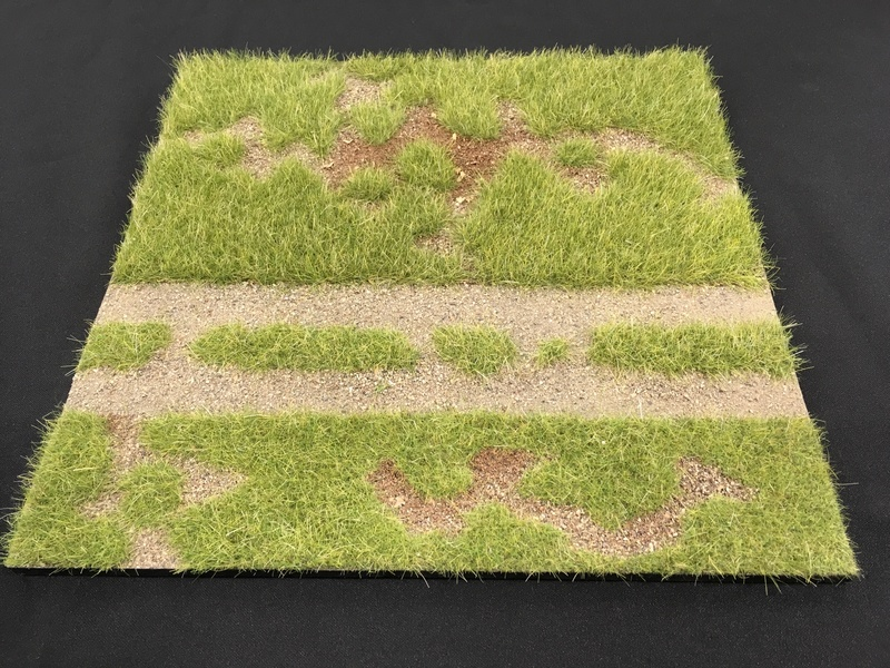 "HA2067.1 - 12"" x 12"" Grass Field with Road Scenic Base"
