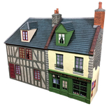 HA2086 - French Half Timbered House and Storefront