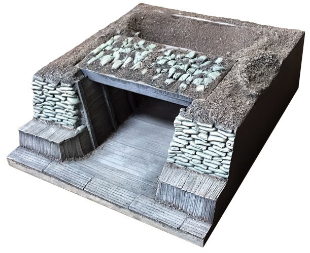HA2093 - German Trench Section No. 4 Mortar Emplacement with Removable Cover