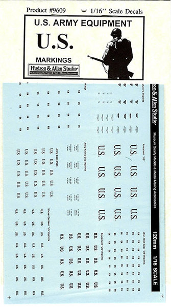 HA9609 WWII U.S. Army Equipment Decals