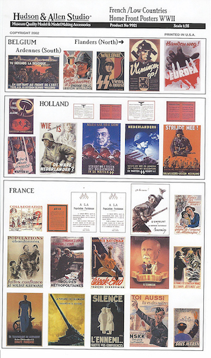 H&A French/Low Countries Home Front Posters