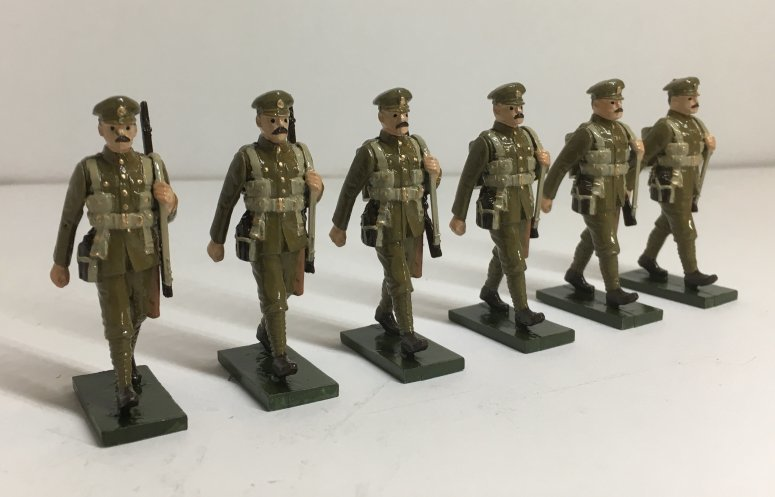 WWI Troops in forage cap, marching - BTSC-OFT2