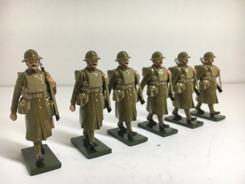 WWI troops in trench coat, marching - BTSC-OFT5