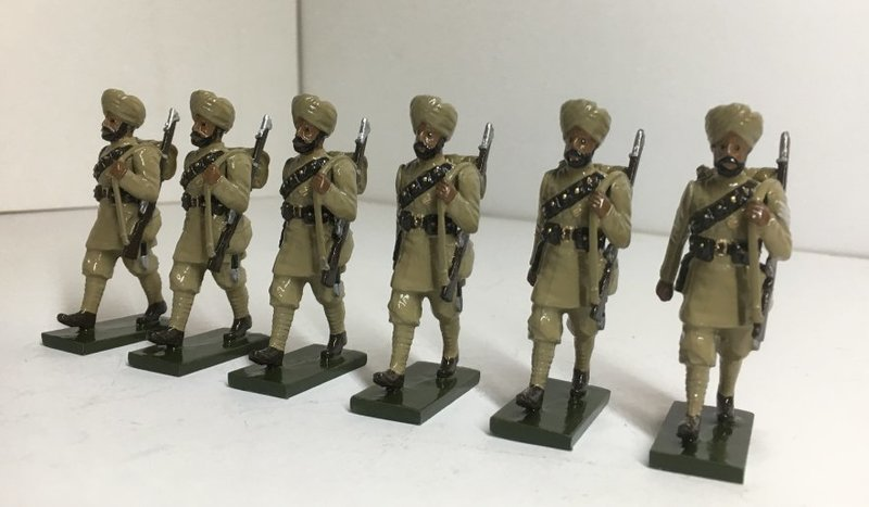 WWI Sikh troops, marching - BTSC-OFT8