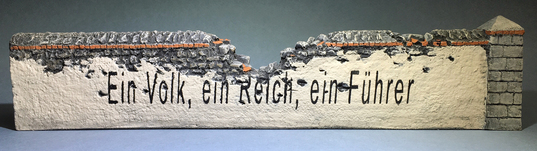More about the 'Hand Painted German Slogan on Damaged Wall' product