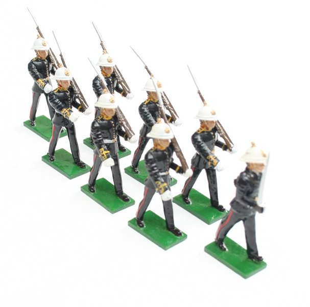Royal Marines 1936 dress, marching, rifle at slope - BTSC-SET38