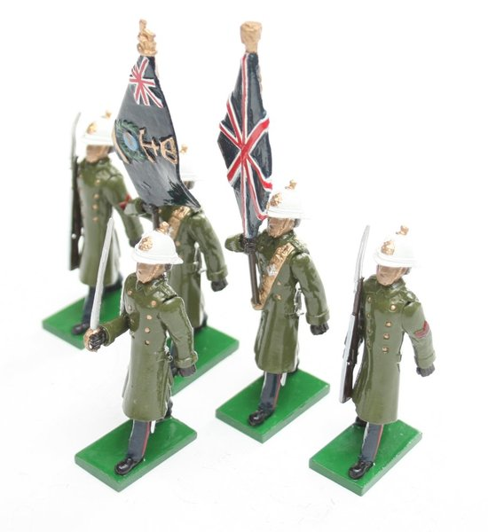 Royal Marines, in greatcoats marching, rifle at slope - BTSC-SET43