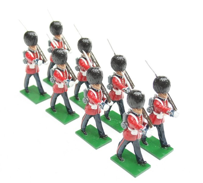 Scots Guards in Slade Wallace dress, marching, rifle shouldered - BTSC-SET49