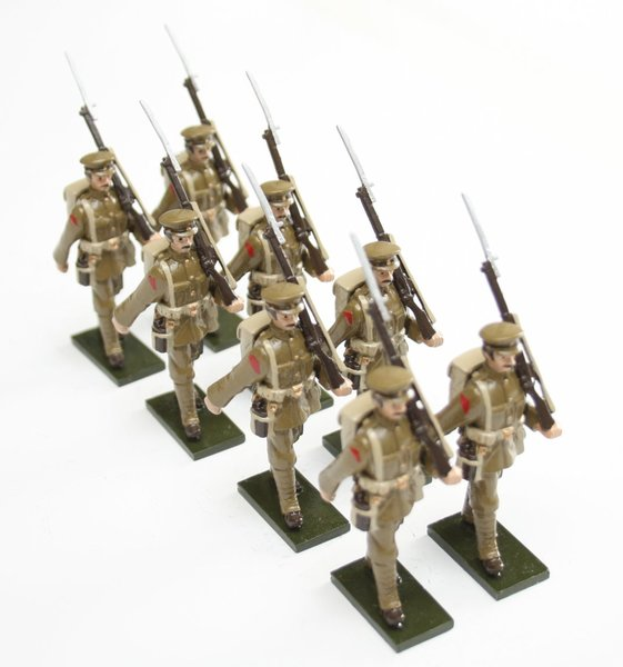 WWI Soldiers, in peaked cap, marching - BTSC-SET54