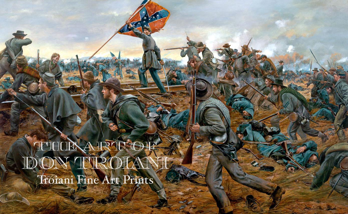"""July 1 /""""General J.B Gordon at Gettysburg 1863/"""" Don Troiani Artist Proof"""