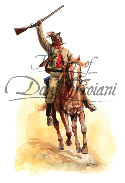 Don Troiani 1st Cherokee Mounted Rifles C.S.A. 1862