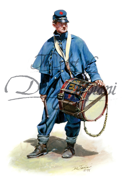 Union Drummerboy In Overcoat