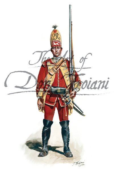 40th Regiment of Foot British Grenadier 1759 - French & Indian War