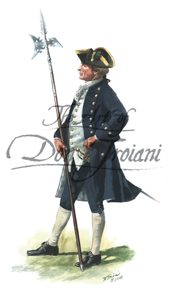 Troiani Newport Artillery Co.Sgt. 1756-1760 - French & Indian War