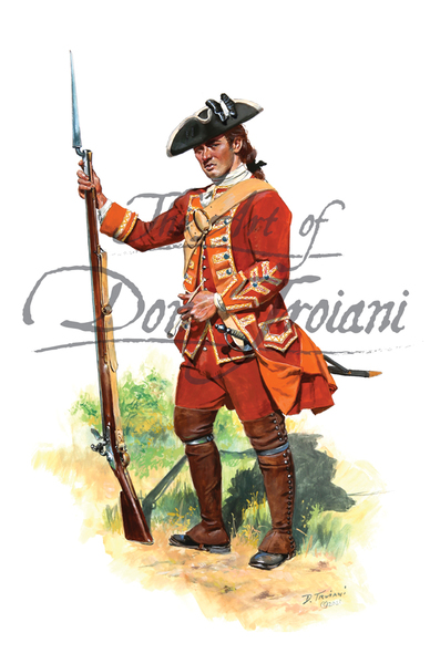 35th Regiment of Foot, 1757