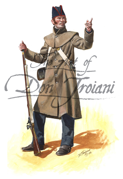 Royal Marine Enlistedman in Overcoat 1812-15