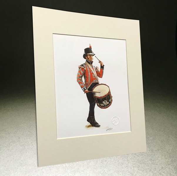"STPW36 8.5""x11"" Royal Marine Drummer 1806-16 with Matting."