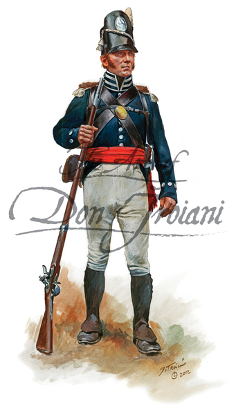 Troiani TPW44–7th U.S. Infantry Sgt. 1815 Battle of New Orleans - War of 1812