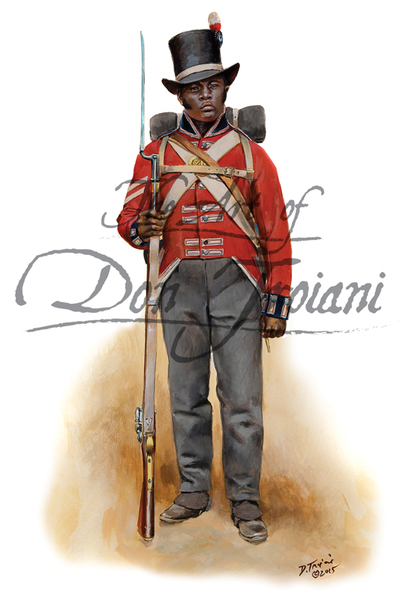 Black Royal Colonial Marine, 1814
