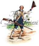Private of Spanish Colonial Regiment of Louisiana. Fought in the Gulf area including the sieges of Mobile and Pensacola, Florida