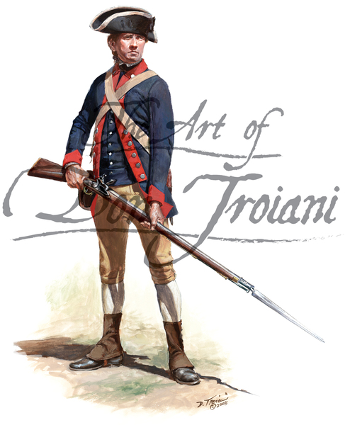 Private of the 2nd New Jersey Regiment -Continental Line-1776