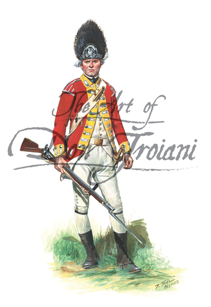 British 10th Regiment of Foot Private- Grenadier Company 1775. Fought at Lexington-Concord and Bunk