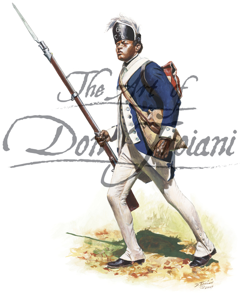 Black Soldier of the 6th Connecticut Regiment, Continental Army, Fall of 1780