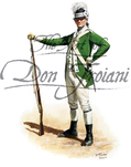 3rd Battalion Light Infantry Company Sgt., Philadelphia Associators 1775-1776 - Cadwallader's Silk Stocking Company