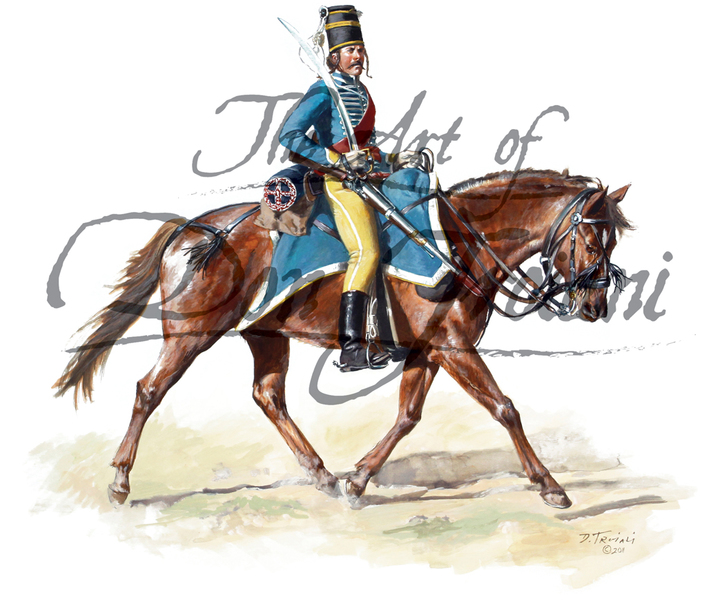French Hussar, Foreign Volunteers of the Navy, 1st Legion 1781