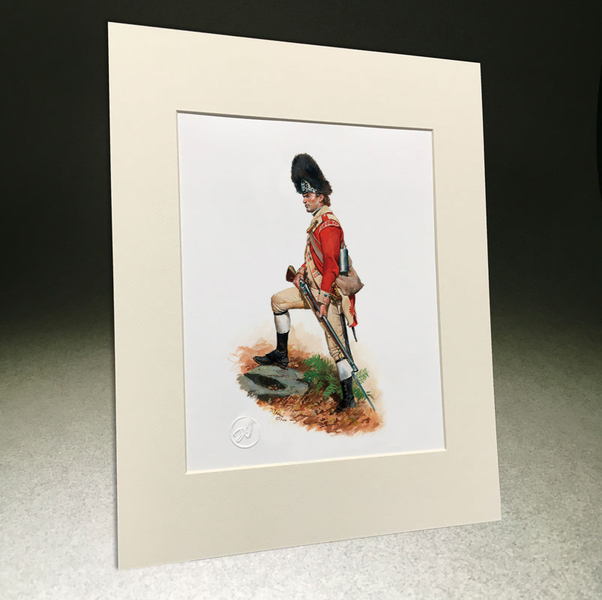 "TRW169 8.5""x11"" 52nd Regiment of Foot, Private Grenadier Company, 177 with Matting"